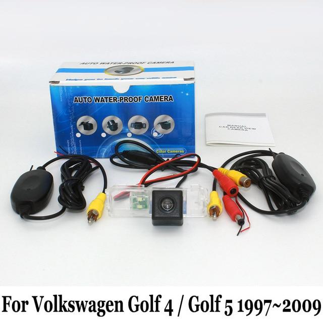 Para volkswagen golf4 golf 4/golf 5 golf5/rca com fio ou sem fio CCD Night Vision Rear View Camera/HD Lente Grande Angular Câmera