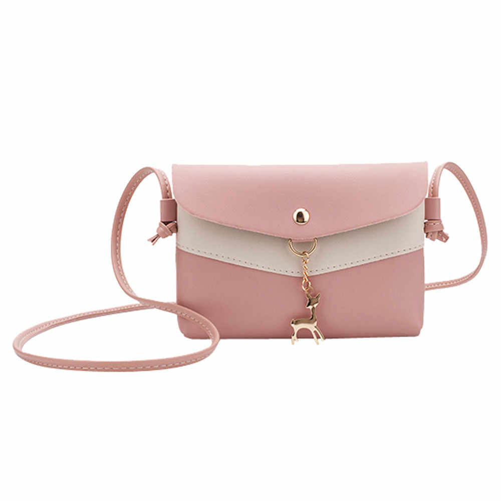 Women Bag Shoulder Fawn Pendant Messenger Satchel Tote Crossbody Phone carteras mujer de hombro y bolsos torebka damska shopper