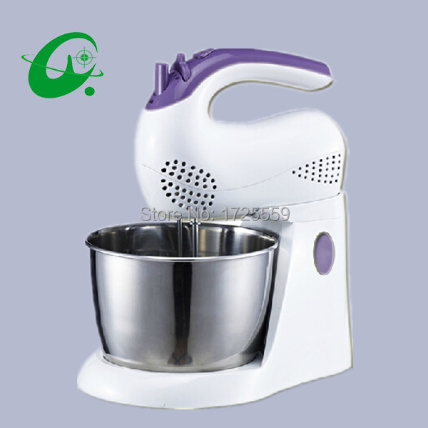 Tabletop Egg Mixer, Stainless Steel Mixer Hand-hold 220V Electric Mixer Egg Stiring And Dough Mixer stainless steel manual push self turning stirrer egg beater whisk mixer kitchen wholesale price