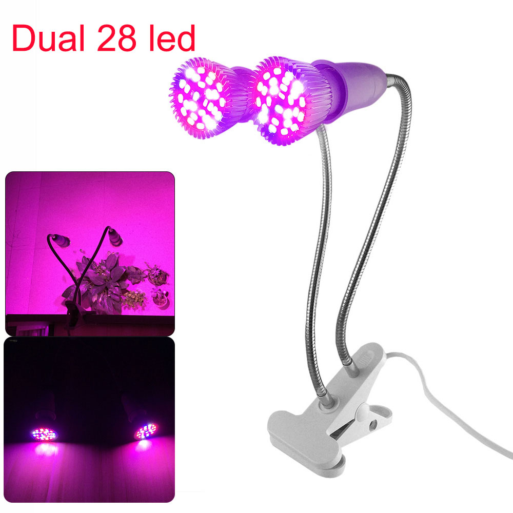 Dual 28 200 290 LED Plant Grow Light Full Spectrum Flower Growing Lamp holder Clip For Indoor room growbox Seed Hydro Greenhouse in LED Grow Lights from Lights Lighting