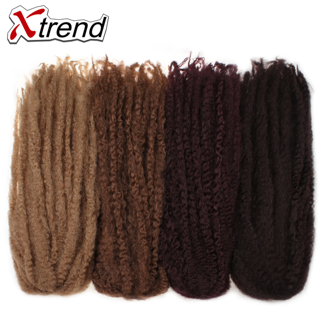 Xtrend 18inch 100g Synthetic Marley Braids Crochet Hair Afro Twist Braiding Hair Extensions High Temperature Fiber 10PCS