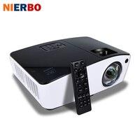 NIERBO Short Throw Proiettore 3D Daylight Proiettori Esterna Luminosa 4000 Ansi per Business School Pellicola proiettore 260 W Lampadina HDMI
