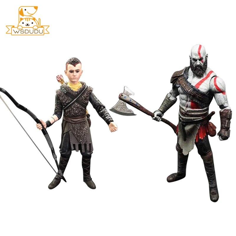 NECA God of War Kratos Atrée Action & Jouets Chiffres de Collection Jeu Père Fils Poupées PVC Modèle Anime Hero Décoration garçons Cadeaux