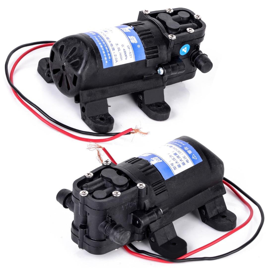 Durable DC 12V 70PSI 3.5L/min Agricultural Electric Water Pump Black Micro High Pressure Diaphragm Water Sprayer Car Wash 12 V 4