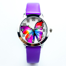 free shipping butterfly dial little boys and girls birthday gift watch