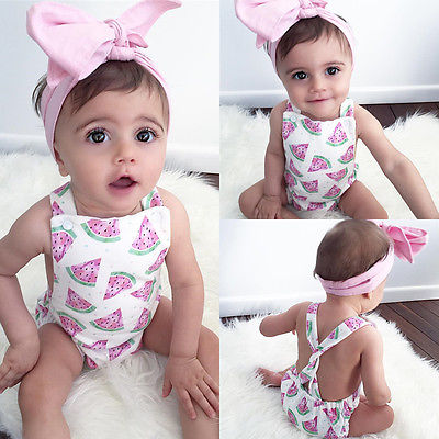 Newborn-Toddler-Infant-Baby-Girl-Watermelon-Sleeveless-Romper-Jumpsuit-Headband-Outfit-Sunsuit-Clothes-1