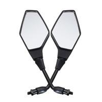 Mofaner 10MM Motorcycle Handlebar Rear View Side Mirror Rearview Mirrors Universal For Honda Kawasaki Yamaha Suzuki