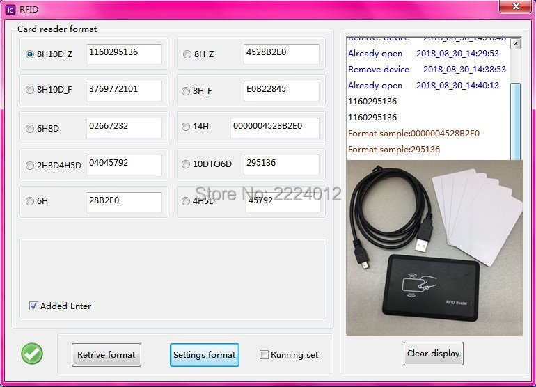Customization Support 8-10 Digital Format Changeable Security USB Proximity Sensor Smart RFID IC Card Reader 13.56mhz
