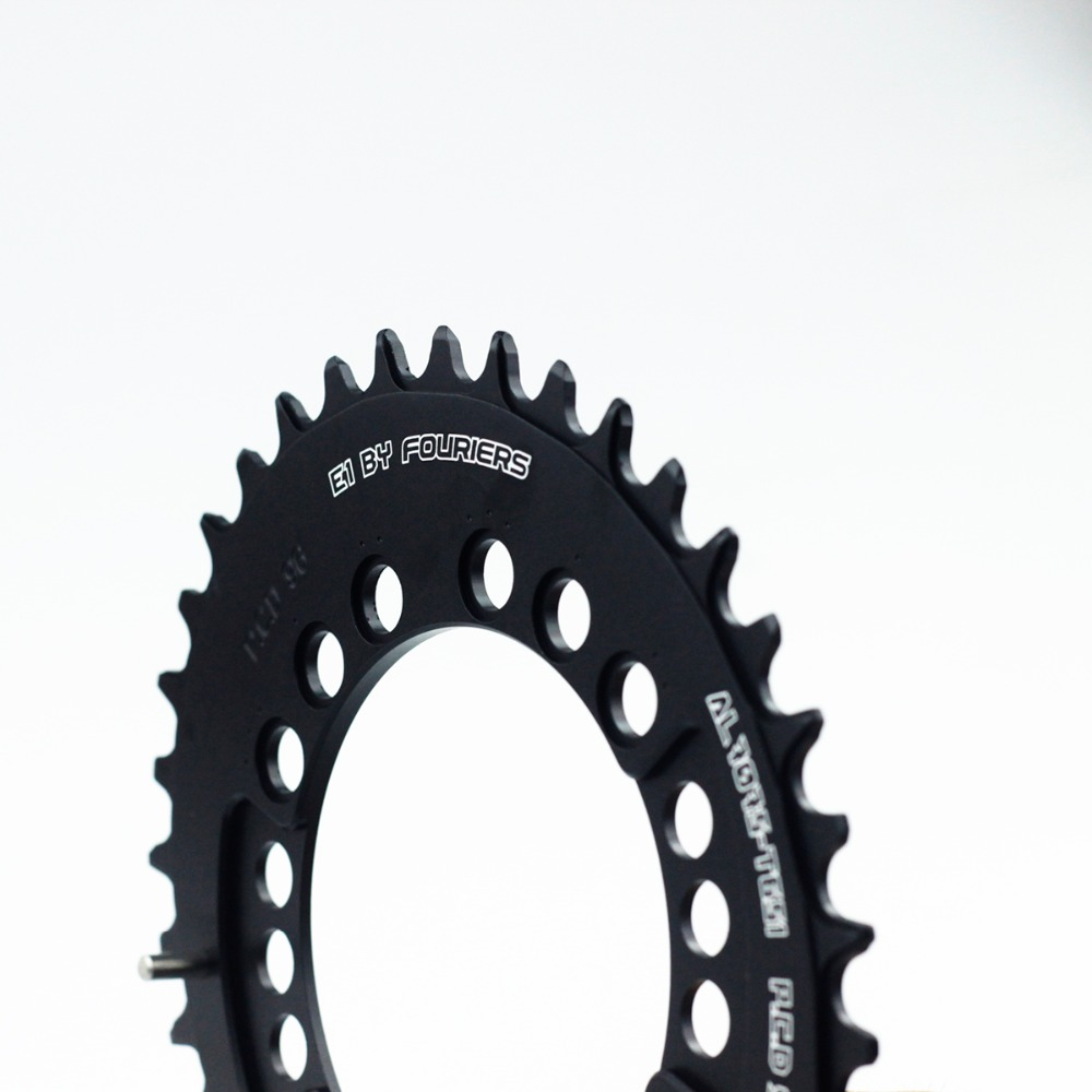 FOURIERS CR-E1-DX8000-OV Mountain Bike oval Chainring P.C.D 96 MTB Chainwheel Crankset 34T-48T Black