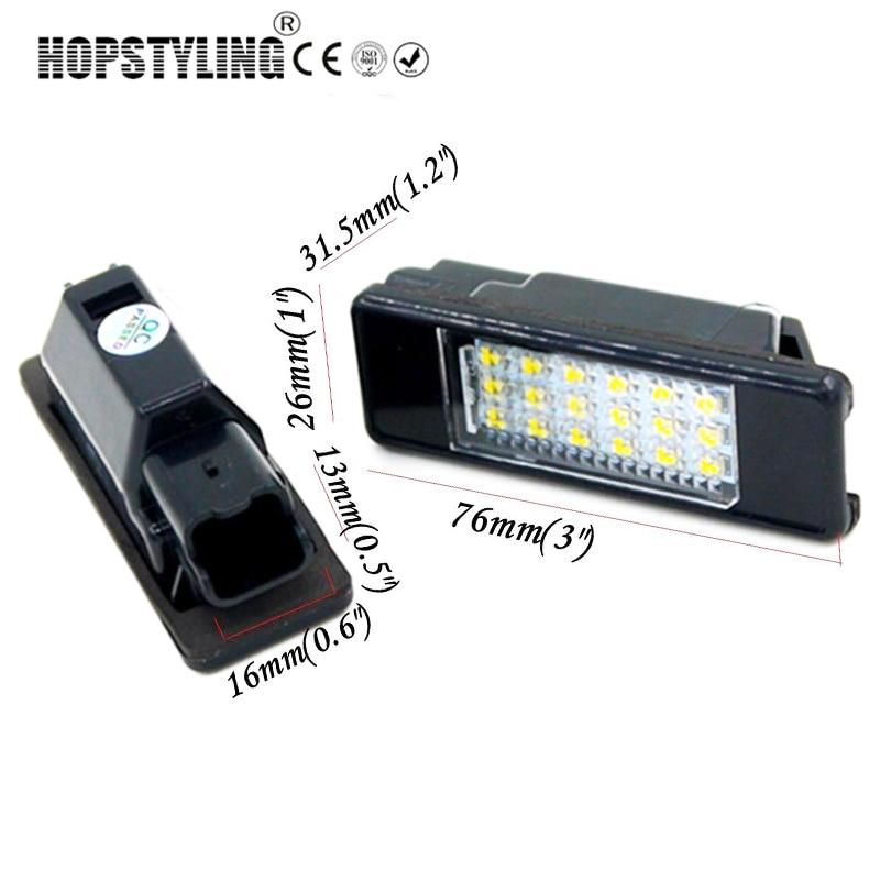 Penggantian auto belakang plat nomor cahaya Untuk Citroen C2 3D / C3 - Lampu mobil - Foto 3