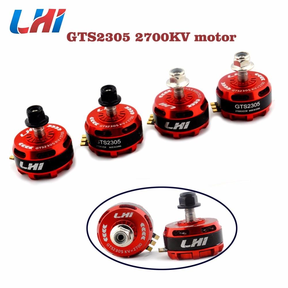 LHI GTS2305 2305 2700kv Motor sin escobillas 3-5 S para QAV-X 214 reptil 220 de 250, 270 FPV Racing Quadcopter RC drone