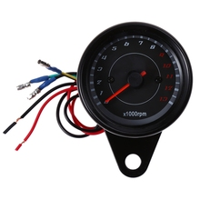 Free Shipping B719 Universal LED Auto Car Electric Tachometer Meter Gauge Shift Lighting Motorcycle Modification Part