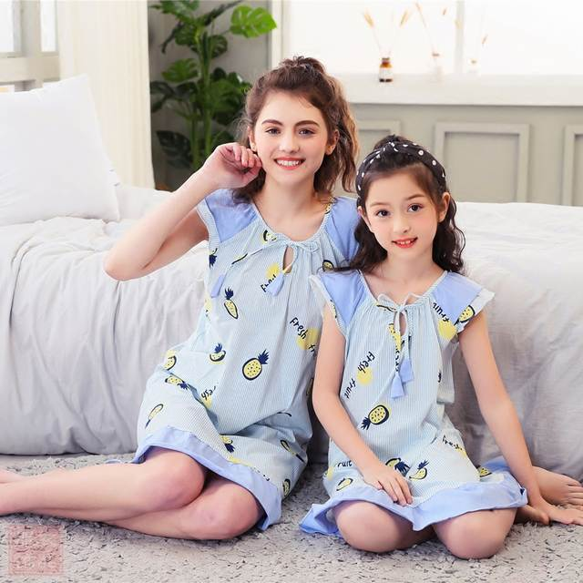 Online Shop Baby Clothes Girls Pajamas Mother Daughter Pajamas Family  Nightgown Set Mama Mom and Baby Matching Clothes Sleepwear Bath Robe  b3b480c09b22