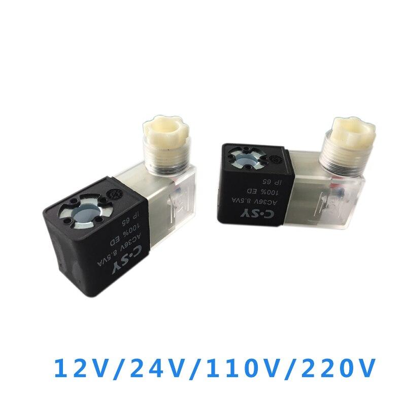 1Pc Pneumatic Air Solenoid Valve Coil For 4V210 4V210-08 4v310-10 4v410-15 220V 110V 24V 12V