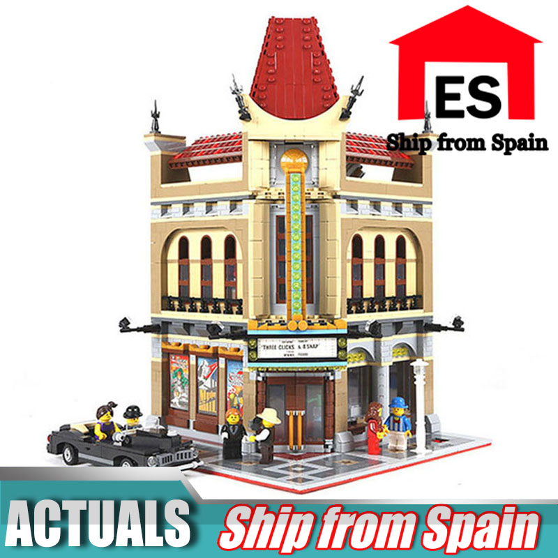 City Street 15006 Palace Cinema Model Building Blocks Set Compatible with 10232 Classic House Architecture Toys