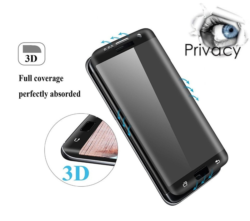 For Samsung S8 S8Plus S8+ 9H Anti Spy Tempered Glass Full Screen Protector for Samsung Galaxy S7 Edge 3D Anti-Spy Privacy Film