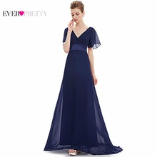 Evening Dresses EP09890 Padded Trailing Flutter Sleeve Long Women Gown 2018 New Chiffon Summer Style Special