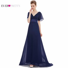 Women Gown Occasion-Dresses Trailing Chiffon Special Long Flutter-Sleeve New EP09890