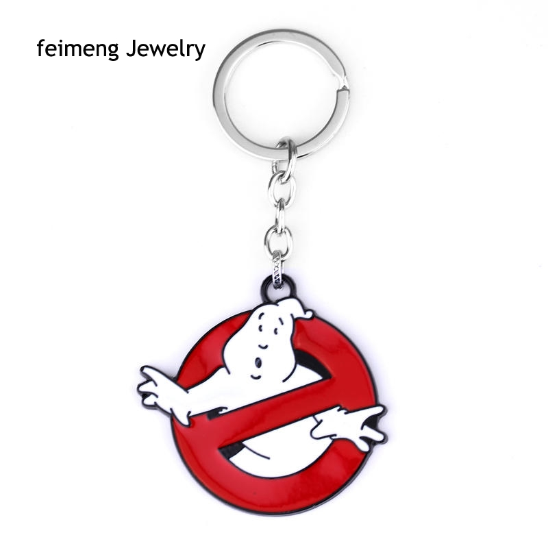 Wholesale Ghostbusters Key Chain Hot Movie Key Rings Chaveiro Car Keychain Jewelry Game Key Holder Souvenir  High Quality Gift-in Key Chains from Jewelry & Accessories