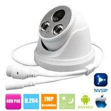 ABS пластик nvsip купольная ip-камера PoE 2MP Full HD 1080 p безопасность ONVIF 2,0 CMOS ИК ночного видения H.264 домашняя видеокамера PoE CCTV
