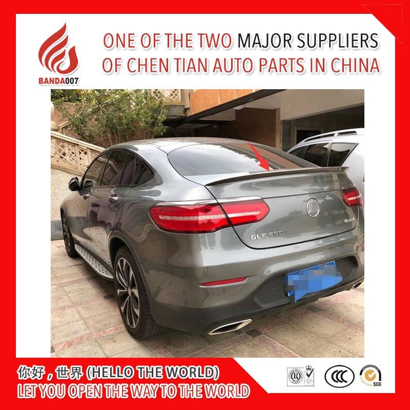 ABS primer or black silver color car rear lip spoiler for GLC Coupe GLC200 GLC300 GLC260 spoiler 2016 2017