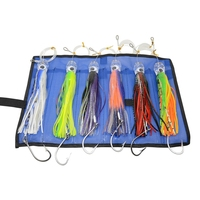 6 pcs 9 Inch Saltwater Fishing Lures Trolling Lures for Tuna Marlin Dolphin Mahi Wahoo and Durado, Included Rigged Big Game Fi