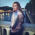 Новый 2016 Harajuku Феникс Цветочной Вышивкой Куртка Женская Мода Бомбардировщик Куртка Дамы Черный Розовый Сувенир Пальто Chaquetas Mujer