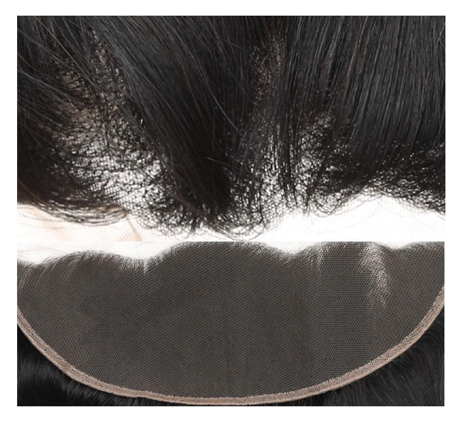 straight human hair closure  frontal