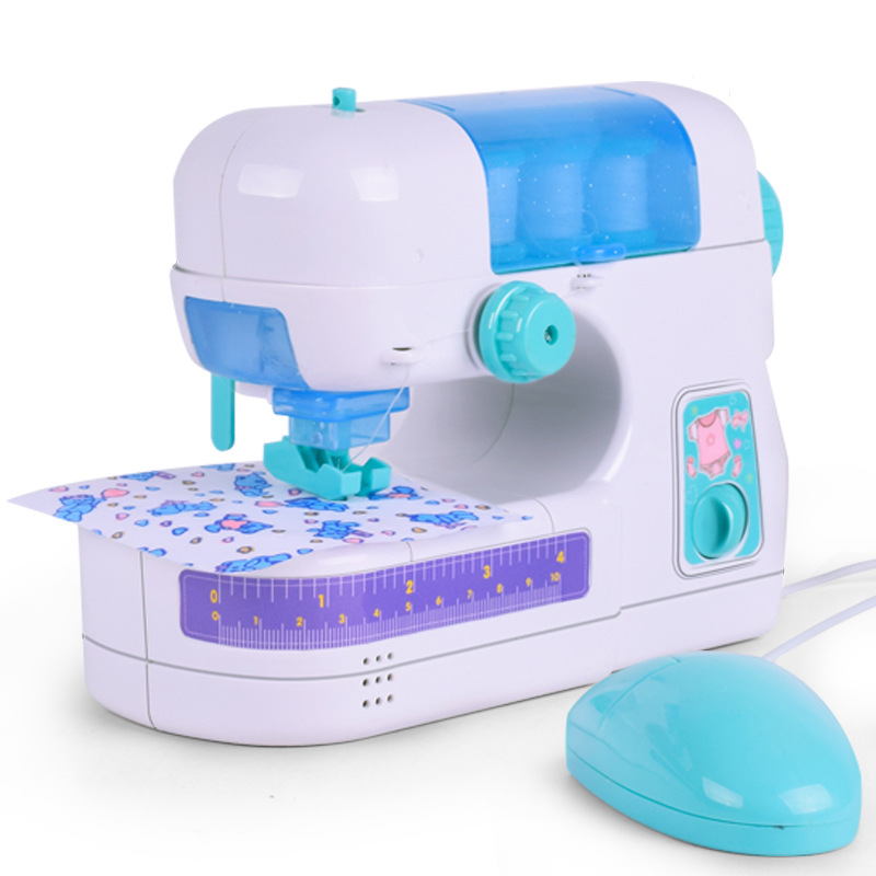 Simulation Toy Cloth Sewing Machine Household Furniture Pretend Playing Toys For Children Intelligence Activities Girl Gift