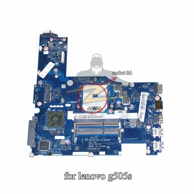 LA-A092P pour lenovo g505s mère d'ordinateur portable pour socket fs1 DDR3