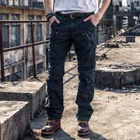 Męskie kombinezony 2019 nowy lato proste spodnie bawełniane dzikie luźne luksusowe mody mężczyzna spodnie Zipper talia pracy rozrywka podróży