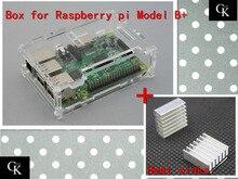 wholesale 10pcs/lot pi case Factory price for Raspberry Pi Model B plus & Raspberry Pi 2 + 2pcs pure aluminum heat sink diy kit