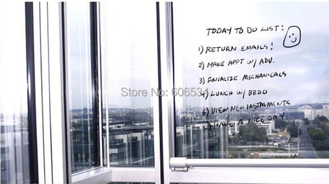 1pc lot free shipping transparent pvc 50150cm large wall write blackboard clear stickers