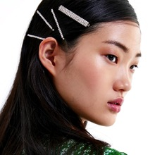 Brand New 5PCS Shiny Rhinestone Hair Clips For Women Accessories Girls Barrette Style Headwear Jewelry Wholesale