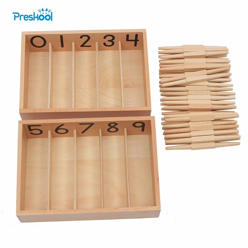 Montessori Kids Baby Toy Professional Version Spindle Box With 45 Spindles Preschool Brinquedos Juguets baby toy montessori baric weight tablets with box early childhood education preschool training kids brinquedos juguetes