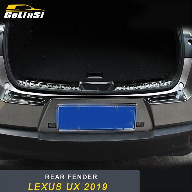 GELINSI coffre de porte arrière pare-chocs garde-boue protecteur seuil couverture cadre garniture autocollant accessoires pour Lexus UX 2019 style de voiture