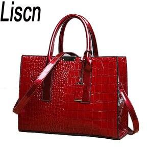 LISCN Hot Sale! Lady PU Leather Shoulder Bag Elegant  Luxury OL Lady  Crocodile lady bag handbag  messager bag  Fashion Bags