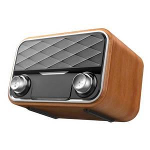 Image 2 - خشبيّ لاسلكيّ ساعة تنبيه سمّاعات بلوتوث متعدد الوظائف المكونات في بطاقة كمبيوتر مكبر صوت محمول الصوت والفيديو معدات