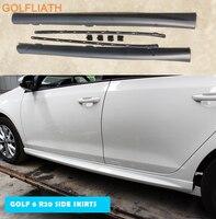 GOLFLIATH R20 style ABS racing car bodykit side skirts for Volkswagen VW Golf 6 MK6 GTI R20