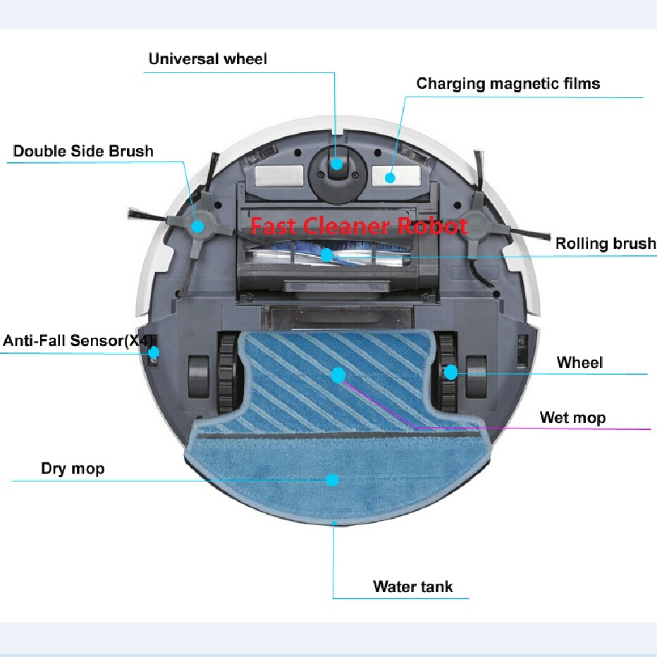 Mah ロボット掃除機ウェットとドライモップ、ロボット sonic センサー、