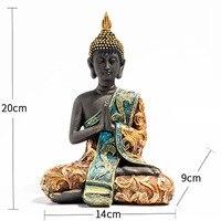 1 Piece Resin Buddha Sculpture Statue Buddhism Buddhist Figure Figurine