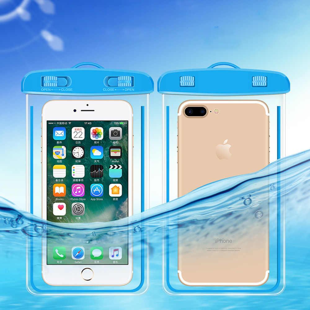 Protetor de Cinto Tampa Do Caso À Prova D' Água À Prova D' Água Contra A água clara Saco Do Telefone Bolsa Para iPhone Samsung Xiaomi Huawei