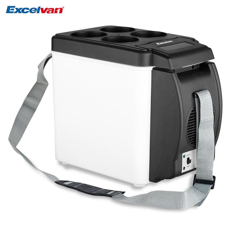 imágenes para Mini Congelador Nevera Refrigerador Del Coche 6L Nevera 12 V Auto Calentamiento Térmico Portátil Multi-Función Anti-Podrido Mantener fresco Caliente