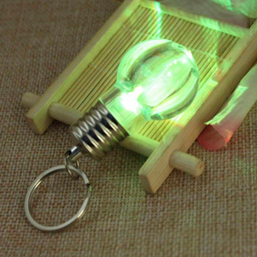 1pcs Criativo Colorido Changing LED Lanterna Luz Mini Lâmpada Lâmpada Lanterna Chaveiro Chave Chaveiro Anel Cadeia Claro Atacado