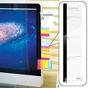 الحق لصق الكمبيوتر رصد ملصقا الاكريليك شاشة الملاحظات سجل كليب شحن حفرة حامل هاتف المهنية