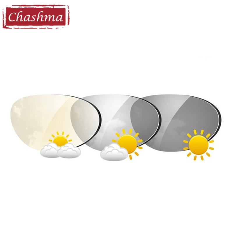 Chashma 1.61 Index Photochromic Anti-reflecterend Anti-UV Anti-Scratch Chromatic Lens Grijs en bruin Receptlenzen voor oog