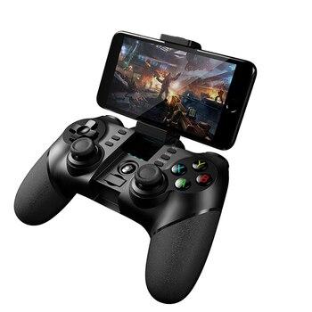 Senza fili di Bluetooth 2.4g Controller Gamepad Android iOS Joystick Con Allungabile Supporto Del Telefono Gioco