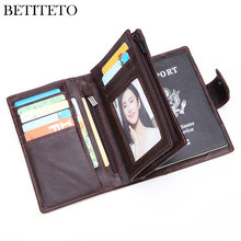 Betiteto Genuine Leather Men Wallet Male Passport Holder Carteras Coin Purse Kashelek Portomonee GG Partmone Fashion Money Bag