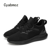 Cyabmoz Fashion Men Height Increasing Shoes Comfortable Casual Breathable Elevator 6cm Mesh Man Shoes Sneakers zapatillas hombre
