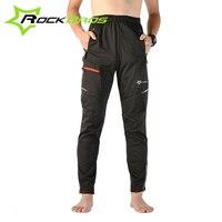 Rockbros Men S Pants Cycling Trousers Fleece Thermal Warmer Bike Clothing Sportwear Cycle Mountainbike Long Pantys